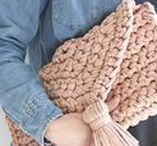 Crochet Bags and Free Patterns / Modern crochet bag patterns to inspire your weekend and for you to try or buy. If you would like me to make your own bespoke piece then get in touch at https://www.kingandeyecrochet.com/lets-talk.html