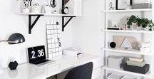 Oh My! Office Ideas / Scandinavian style and minimalist office ideas