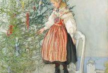 Art - Carl LARSSON / Né le 28 Mai 1853 à Stockholm, décédé le 22 Janvier 1919 est un artiste suédois principalement dessinateur et illustrateur, peintre et aquarelliste