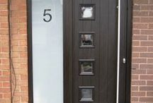 Composite Doors / Unique solid timber doors in a variety of styles and colours suiting every property by Reddish Joinery.
