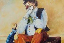 Art - Clowns / ♫ Envoie les clowns   Les derniers lanceurs de balloons   Qui font de nos vies un cartoon   Quelque chose de léger dans l'air ... ♫ Didier Barbelivien