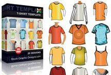 Vector T-Shirt Templates / Download apparel t-shirt templates free vector art images. Blank mockup, tshirt templates, boys, mens, womens garments, hoodie, collar shirt, long sleeve, sweatshirt, jacket, pullover, zipper, hooded and sweater. ► Download now >>> http://www.123freevectors.com/free-vector-download/t-shirt-templates/