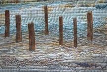 Stitching for Texture/ Hand Quilting with a difference / Using hand stitching to add texture, embellish, modify colour . . .