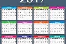 2017 Calendar / Free Download Printable 2017 Calendar Template Vector Illustrator. 2017 Printable Monthly Calendar Designs.