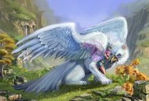 Gryphon Fantasy Art / A gryphon or griffin is a fantasy creature traditionally with the front half of an eagle and the back half of a lion. Here is a collection of wonderful gryphon related art by talented artists.