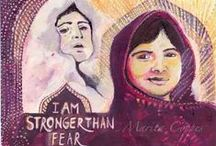Malala / My Inspiring Icons  http://www.nicho-poweredwithintention.com/portfolio/malala/