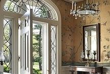 House Entrances and Entryways / House Entrance Ways, Front Doors, Front Porches, Front Hall, Foyers, Entryways