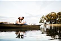Canoe Engagement Session / Photos from a fall engagement session at a lake house with a canoe!