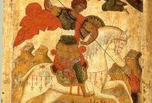 Saint George, the dragon slayer