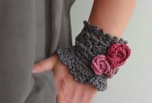 accessory / örgü eldiven,bileklik