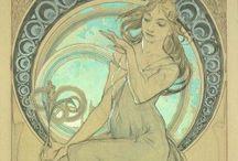 Mucha / Any pieces by Alphons Mucha / by Ellen C B