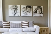 Decorating with Portraits / Fill your home with what you LOVE!  Portraits as ART is a great way to remind us why we do what we do, and make us smile as we count our blessings!