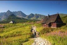 TATRY / Tablica zawiera zdjęcia szlaków tatrzańskich.