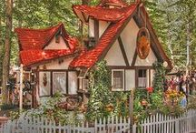 Fairy Tale, Story Book Homes / Inspiration for making miniature dolls house story book style dwellings.