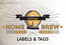 Home Brew Beer and Wine Label Inspiration / Have a home brewery?  Work in your own vineyard?  Get inspired with designs that might just represent your own delicious drink.