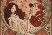 Illustrazioni Alphonse Mucha