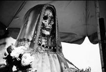 Santa Muerte and things that fit the theme / I like this....it seems to be a remanifestation of something primordial, magical, and Aztec! / by Mendes Derrida