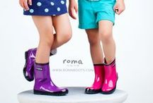 Kids Rain Boots / Durable designs and fun colors of Roma Boots are the cutest around. How adorable will your baby or child look in those super stylish boots.  / by Roma Boots