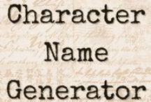 Name Generators for Writers / Need a name for characters and places? Find the name generator that suits your story.