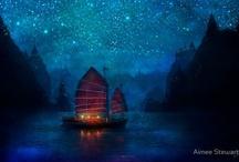 Des étoiles dans la nuit / by Cot Cot Cot