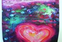 Art on Journals & Bags by Tanya Cole / Hand painted Original Art or Art Reproduction onto Journals & Bags by Tanya Cole