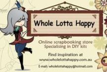 Whole Lotta Happy Scrapbooking & Card Making / A FANTABULOUS craft store in Australia specialising in 'Do It Yourself' kits for page layouts & card making, as well as their own brand of gorgeous rub on transfers         www.wholelottahappy.com.au