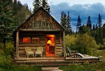 Tiny Home Ideas / Someday I wish to live far away, deep in the woods, where nothing is manipulated or destroyed... My private paradise.