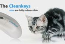 CLEANKEYS by CAD&CAM technologie / -Patented TouchTap™ Technology with Corning® Gorilla® Glass 2 -CleanSweep Monitoring Software -integrated Touchpad-Numpad -Wireless