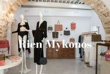 Rien's Mykonos Boutique / Biseds Athens you can find all Rien's handmade clothes and leather products in Mykonos