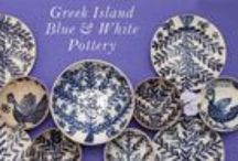 Blue & White Dishes etc. / Everything Blue & White with a Mediterranean flair! Blue and White Dishes, Plates, Bowls, Mugs, Pottery, Rugs, Clothes, Greek Islands...