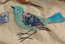 Birds / Made of felt, paper, fabric  Prints and paintings Jewelry, ceramics