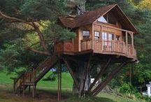 Tiny Houses & Tree Houses / Some creative alternatives to building a full-size home on your land. Could be ways to enjoy your dream land before building your dream home, or just to add a new retreat on your property.