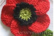 CROCHET - EDGES, FLOWERS & OTHER DECORATIVE / crochet elements for decorations with diagrams