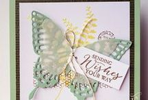 Stampin' Up inspired creative cards / This is for us to share the card inspirations with the dies we already have on Pinterest, including those made by Stampin' up fans and our own creations.  Enjoy!