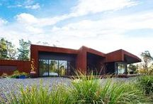 Corten steel | Architecture / Corten steel is a beautiful material to use in modern architecture. The warmth of the aging steel has always a different appearance depending on the atmospheric circumstances