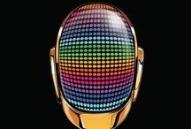 Daft punk posters and designs get lucky!! / Daft punk music and images