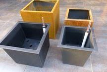 A+Concepts | Hydroculture / Hydroculture i.c.w. metal planters such as Corten, Stainless Steel or Galvanised steel. Hydrocultuur in combinatie met metalen plantenbakken zoals, Corten, RVS of gegalvaniseerd
