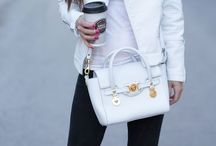 White jacket outfit