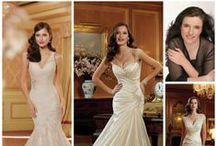 """Sophia Tolli Bridal Gowns / Sophia Tolli wedding gowns have a fit that is unbelievable!!!  WEDDING DRESSES by Sophia Tolli provide both classic and couture designs including strapless ball gowns, A-line dresses, halters and slim skirts. Wedding dresses with Sophia's signature draping and corset backs provide an impeccable fit. Sophia adds, """"My collection has two distinct feelings: soft romanticism and traditional bridal drama. My signature style will always be gowns with an exceptional fit and cut."""""""