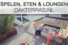 Spelen, eten en loungen / Deze opdrachtgever wilde 3 functies verenigen op zijn dakterras en dus heeft Dakterras.nl een lekker groot dakterras aangelegd, met een elektrische daktoegang en een veilig hek