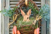 Pâques et noël / oeufs , lapins ...