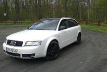Audi biała perła + carbon / Zdjęcia z realizacji oklejania auta białą perłą i carbonem