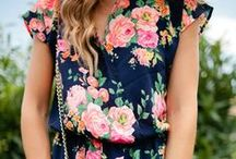 Spring Fashion & Style with Flowers / spring fashion & style with flowers