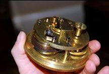 Interesting antique clock movements / The inside of lovely antique clock movements from the 17th to 19th century