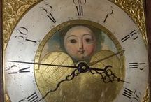 Different Types of Moonphase Antique Clocks / Moon features on antique clocks come in all shapes and designs