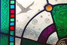 Stained glass and leaded lights / My stained glass and leaded light panels. colourful ideas for your home and garden. Working in Glasgow area.
