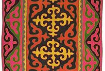 """Shirdak & Kyrgyz crafts / """"Kyrgyz masters achieved their greatest perfection in making shirdak, which was an integral part in the decoration of each yurt."""""""