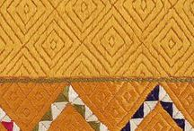 Phulkari / Punjab is known for its Phulkaris. The embroidery is done with floss silk thread on coarse hand woven cotton fabric. Geometrical patterns are usually embroidered on the Phulkaris.
