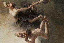 Albert Maignan (1845-1908) / http://lespetitsmaitres.com/2016/05/albert-maignan-peintre-et-decorateur-du-paris-fin-de-siecle/