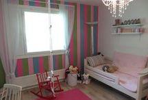 Leikkimään! / Lastenhuoneita värikkäitä ja leikkisiä, pieniä, isoja tai sopivia, ihania, inspiroivia ja monenlaisia, myytyjä tai myynnissä olevia.